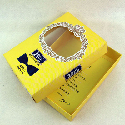 Thin paper foldable box,small gift box with window